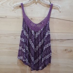 American Eagle Lace Accented Tank